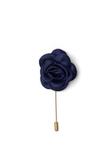 Bryce Silk Lapel Pin Navy
