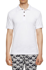 Max Dart Piquet Polo White