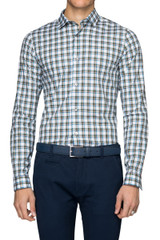 Lawrence Check Shirt Military/Navy