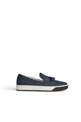 Tate Tassled Sneaker Denim