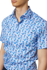 Finton Floral Check Short Sleeve Shirt