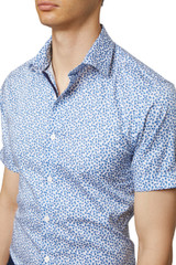Aaden Leaf Print Short Sleeve Shirt