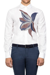 Roman Bloom Print Shirt White