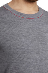 Duke Reverse Seam Knit Grey
