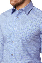 Shay Geo Print Shirt Blue
