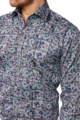 Gandy Print Shirt Green/Beige