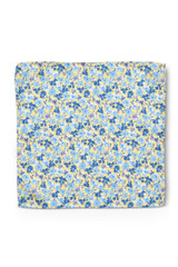 Floral Pocket Square Yellow Blue