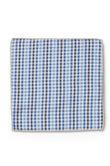 Gingham Pocket Square Blue