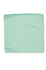 Double Spot Pocket Square Green