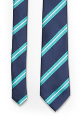 College Stripe Tie Navy TL