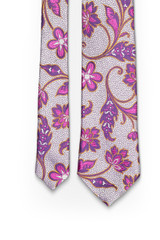 Lilac Floral Swirl Tie