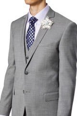Sobral Stretch Suit Jacket Silver