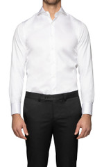 Antonio French Cuff Shirt White
