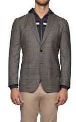 Leroy Check Blazer Dirt/Blue