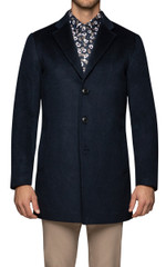 Olof Pickstitched Coat Midnight