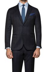 Niko Haze Check Suit Jacket Midnight