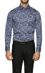 Remy Floral Shirt Navy/Grey