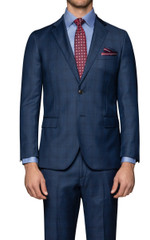Lane Slick Check Suit Jacket Blue/Black