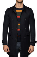 Tate Zip Coat Navy