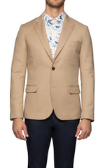 Kurt Pickstitched Blazer Camel