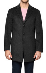 Olof Pickstitched Coat Charcoal
