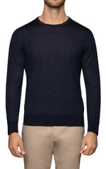 Dino Stitch Sleeve Knit Navy