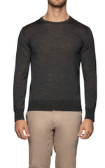 Dino Stitch Sleeve Knit Charcoal