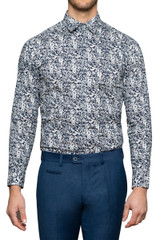 Matty Floral Stretch Shirt Midnight