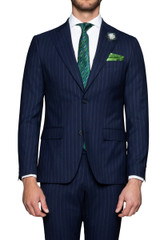 Woodrow Pinstripe Suit Jacket Navy