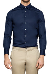 Guy Stretch Shirt Navy