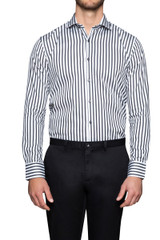 Brock Stripe Shirt Black/White