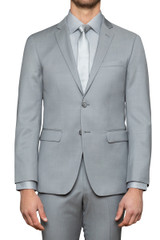 Heston Silver Suit Jacket