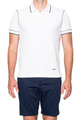 Jacob Stitch Polo White