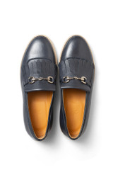 Rian Leather Loafer Navy