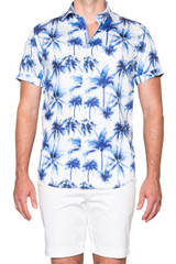 Palm Beach SS Shirt Blue/White