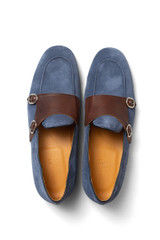 Harris Double Monk Loafer Denim/Fudge