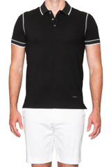 Jacob Stitch Polo Black