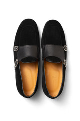Harris Double Monk Loafer Black
