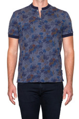 Mason Printed Polo Navy/Tan