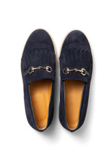 Stefan Suede Loafer Navy