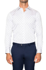 Riley Hexagon Dot Print Shirt WHITE/BLK
