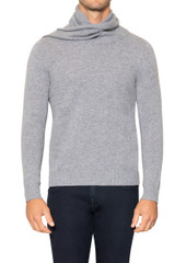 Hank Scarf Neck Knit LIGHT GREY