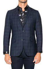 Piero Check Blazer NAVY/BLACK