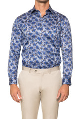 Felix Denim Floral Shirt DENIM/TAN