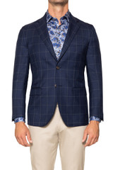 Jared Check Blazer NAVY/CHAR