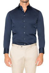 Reid Stretch Shirt NAVY