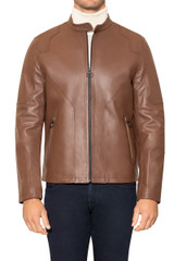 Royce Leather Biker jacket TAN