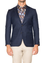 Andy Textured Blazer NAVY