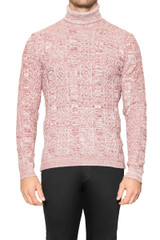 Dale Textured Rollneck Knit RUBY/STONE