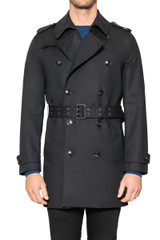Quinn Belted Trench BLACK